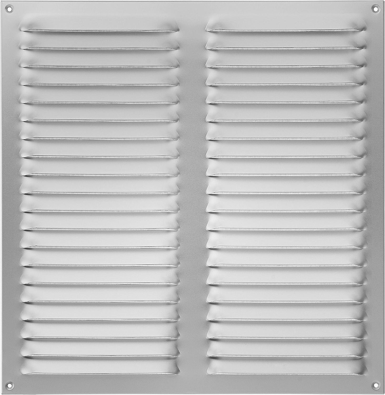 Upmann rejilla de aireación (aluminio, 400x 400color blanco con mosquitera, 1pieza, 54616