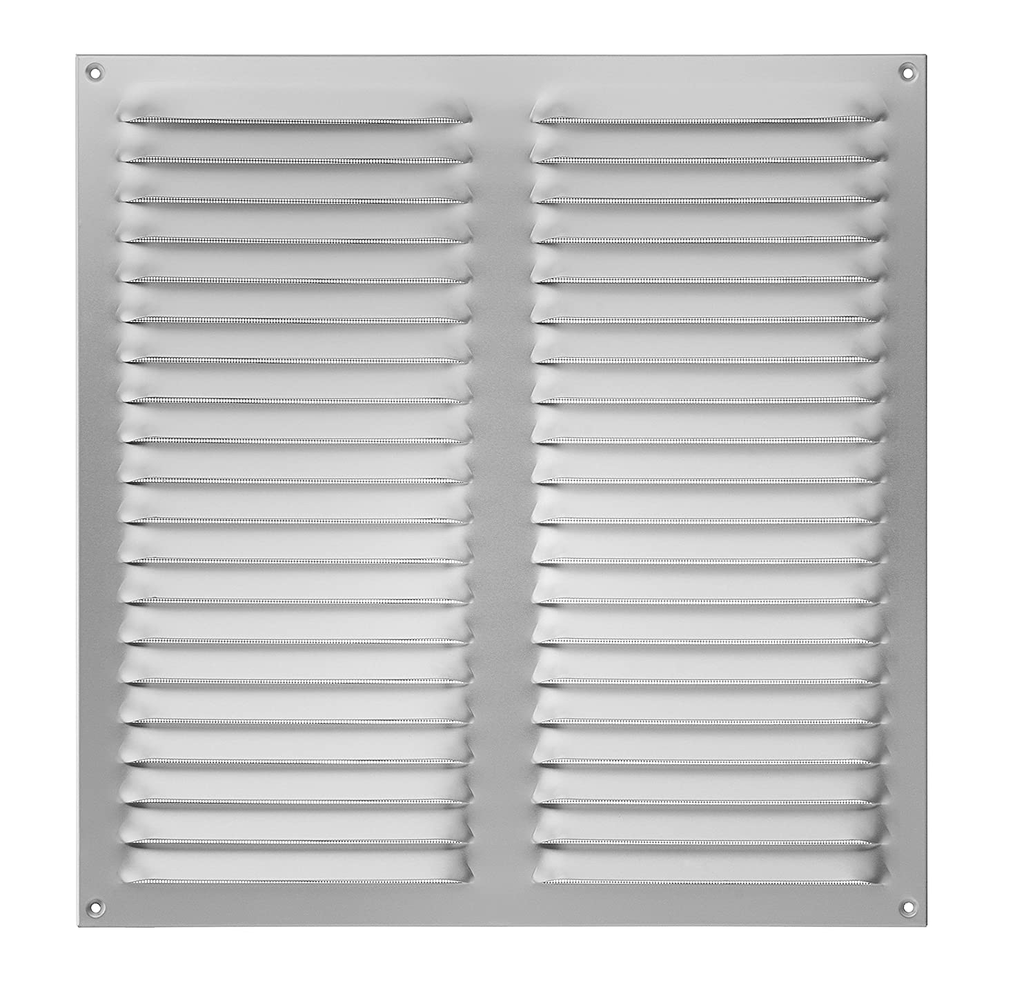 Upmann 54615 Weatherproof Aluminium Grill Anodised with Fly Screen, 300 x 300 mm, 1 Piece, 54604