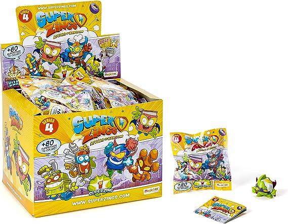 SuperZings - Serie 4 - Display de 25 Figuras Coleccionables (PSZ4D850IN00), Color y Modelo Surtido: Amazon.es: Juguetes y juegos