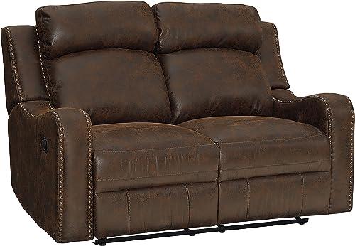 Standard Furniture Bankston Loveseat with Power Motion, Brown