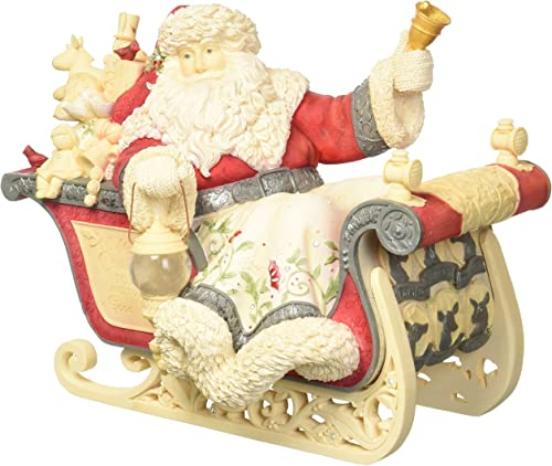 Enesco Heart of Christmas Masterpiece Santa with Sleigh Lighted 4057643 Figurine