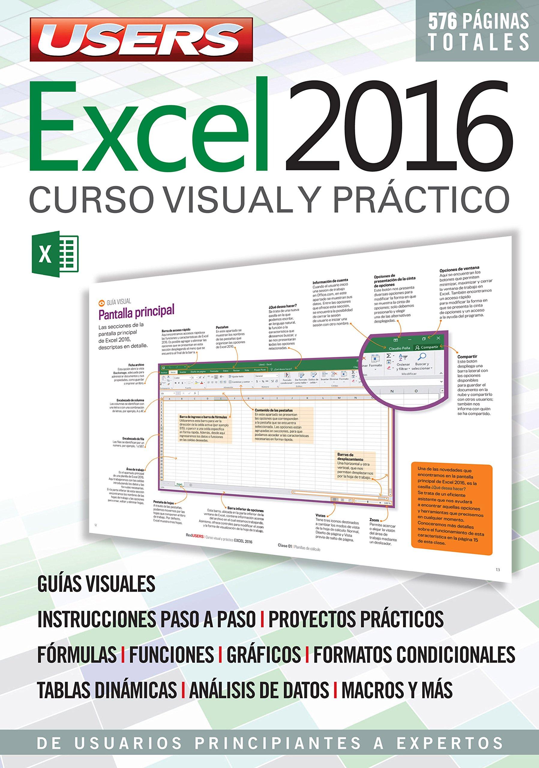 Excel 2016 (Spanish Edition): Claudio Peña, USERS, RedUSERS ...