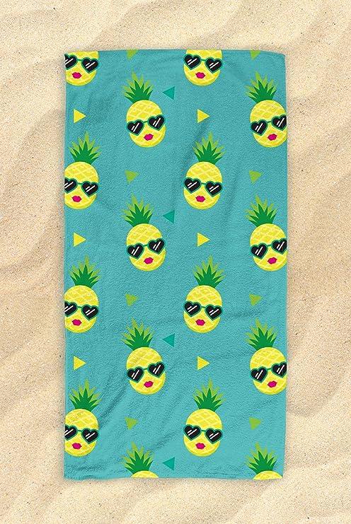 Piña – Toalla de playa, diseño de piña – Toalla de playa en la playa