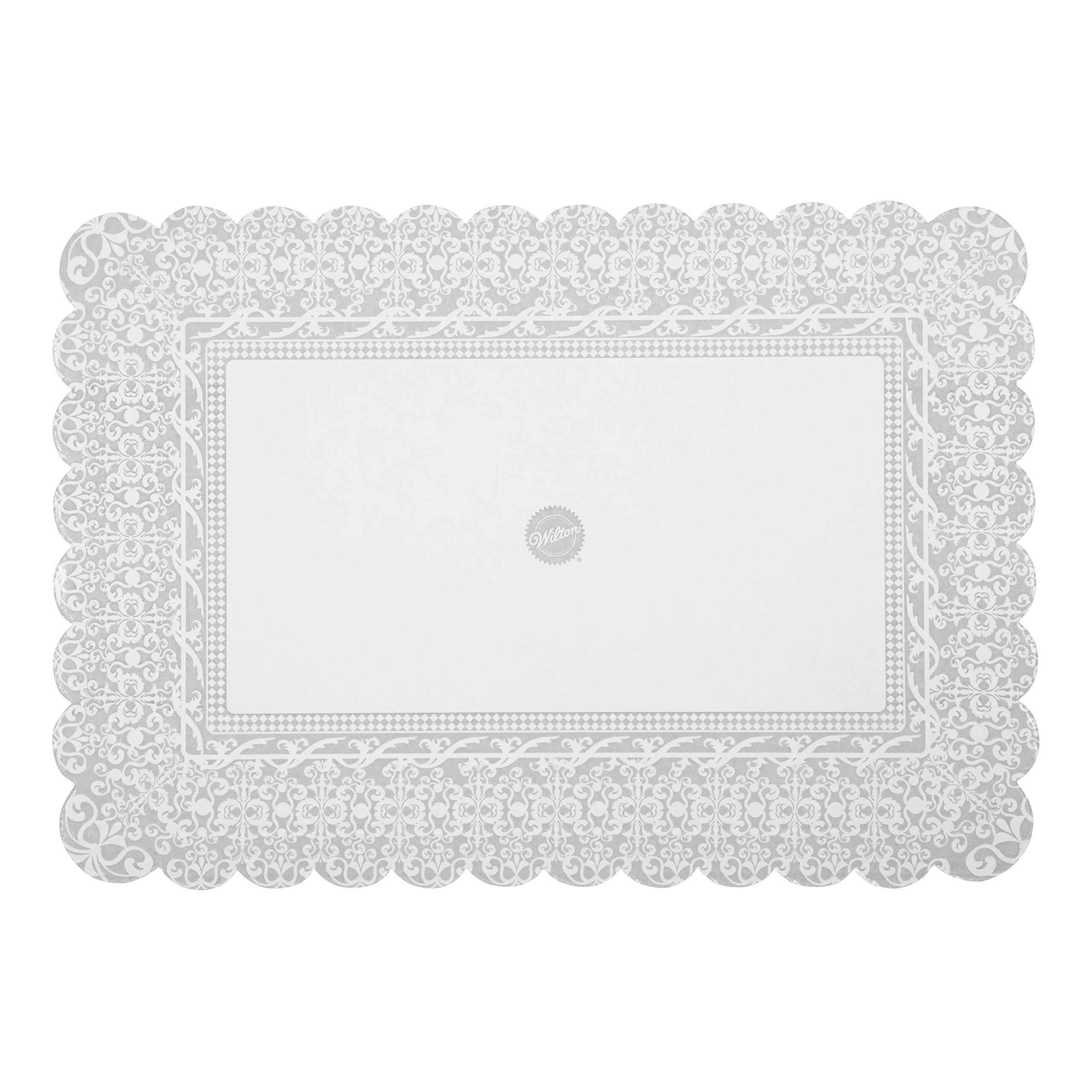 Wilton Show 'N' Serve Cake Boards, Set of 6 Patterned Rectangle Cake Boards for 12 x 18-Inch Cakes