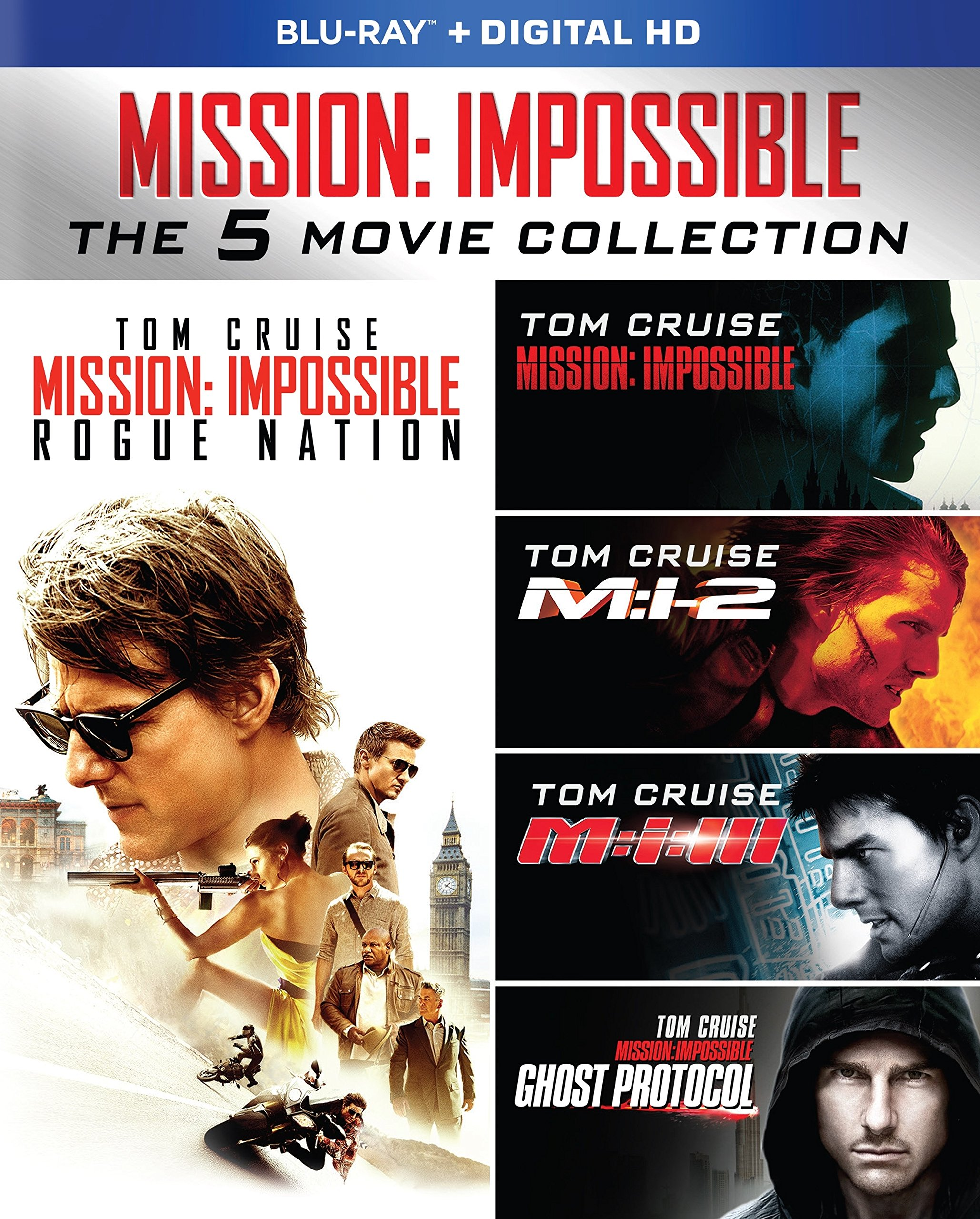 Blu-ray : Mission: Impossible 5-Movie Collection (Boxed Set, Slipsleeve Packaging, Digipack Packaging, Widescreen, )