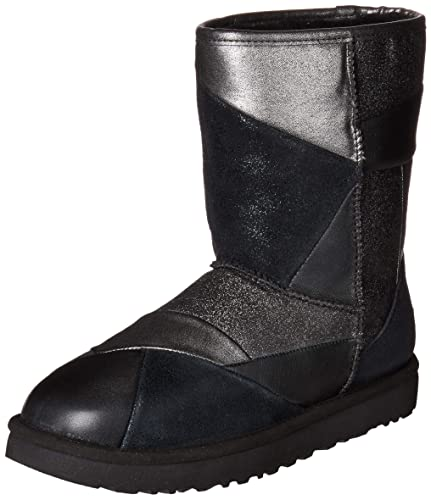 27866a98a6d UGG Australia Womens Classic Glitter Patchwork Leather Textile Boots ...