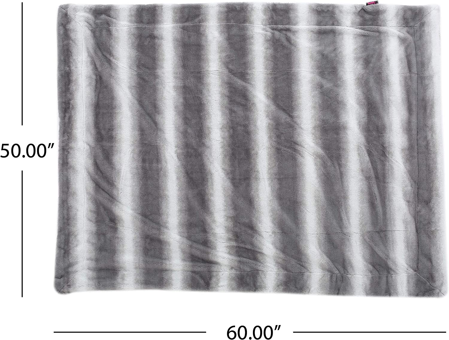 Amazon Com Christopher Knight Home Gipson Faux Fur Throw Blanket Flint Home Kitchen