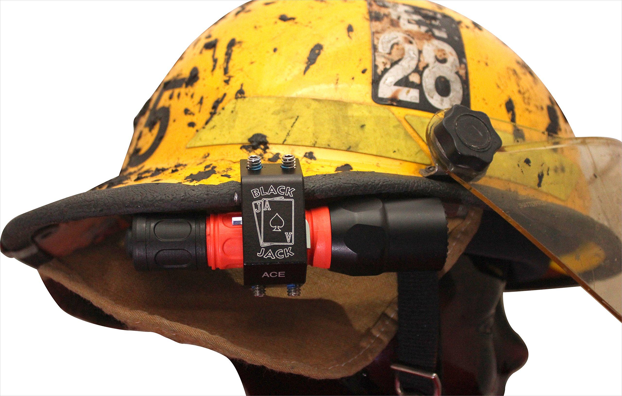 Blackjack ACE Firefighter Helmet Aluminum Flashlight Holder by Blackjack Fire & Safety (Image #4)