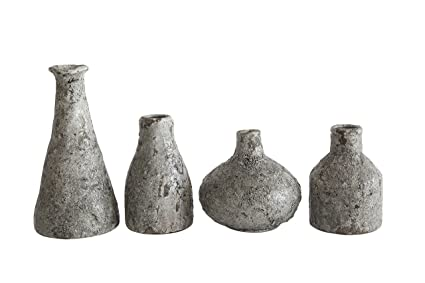 Amazon Set Of Four Distressed Grey Terra Cotta Vases Home