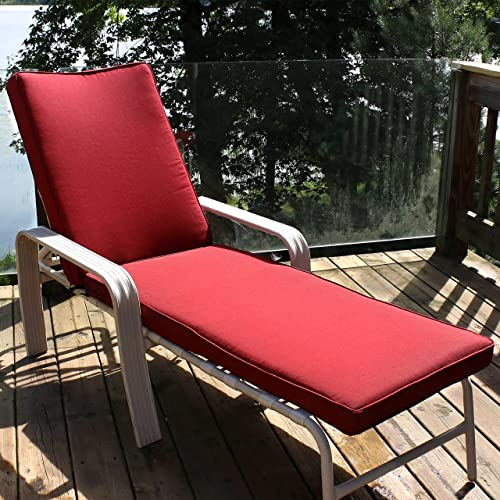 Best outdoor chair cushion: Sunnydaze Indoor/Outdoor Patio Chaise Lounge Cushion