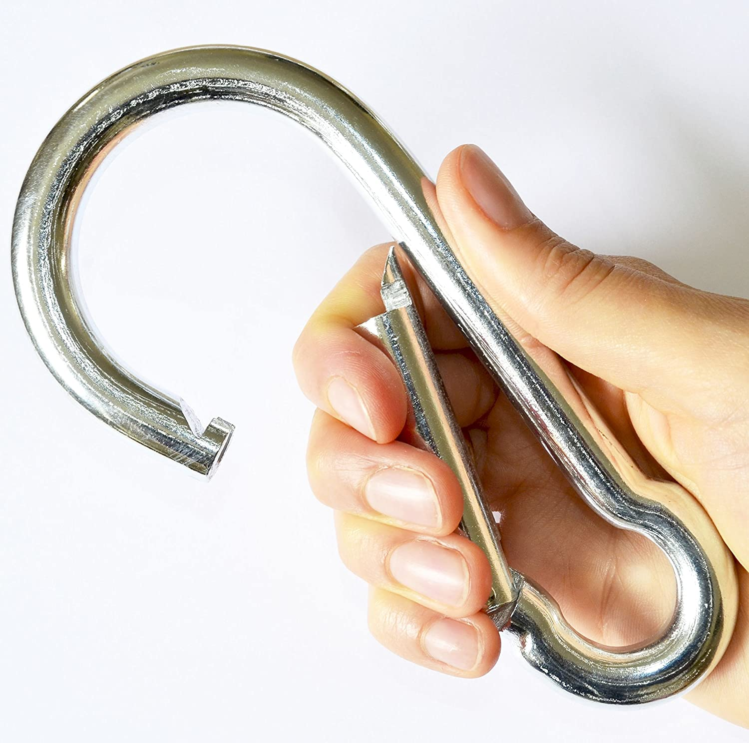 Simply the Best LARGE HARDWARE Carabiner SNAP HOOK Clip ~ 13mm x 160mm Long ~ Working Load: 600kg ~ MEGA STRONG for Sporting Activities and Heavy Duty Jobs