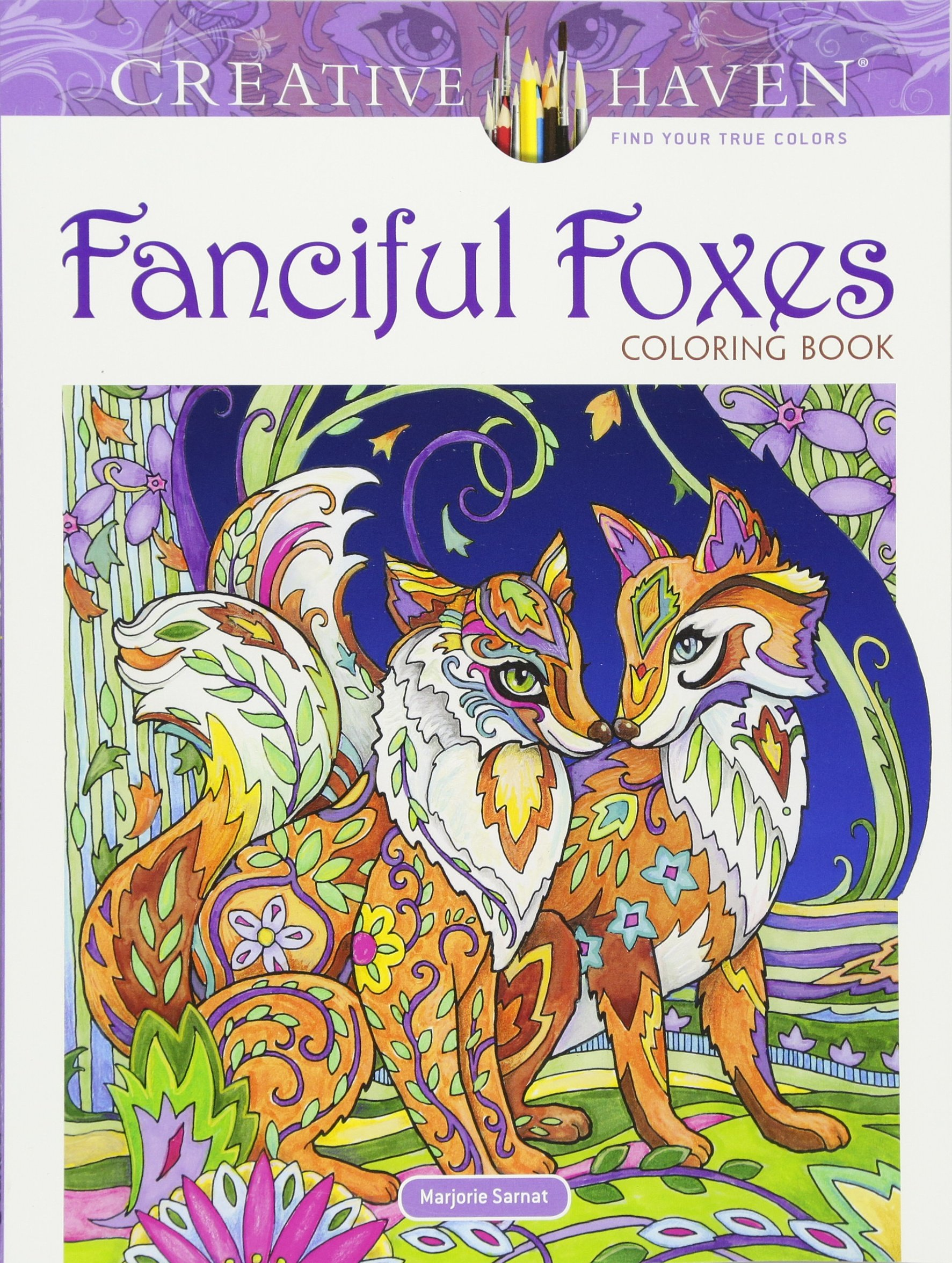 Amazon Creative Haven Fanciful Foxes Coloring Book Adult 9780486806198 Marjorie Sarnat Books