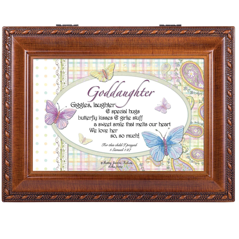 Amazon.com: Goddaughter Woodgrain Inspirational Cottage Garden ...