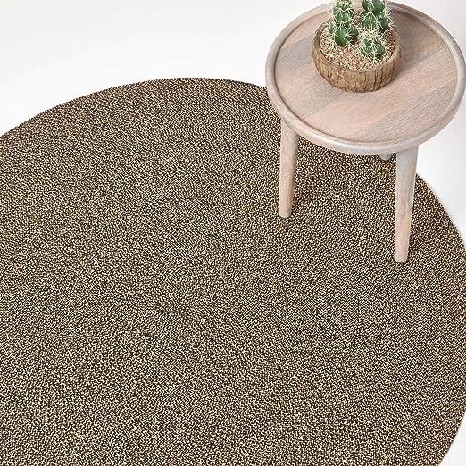 Homescapes Alfombra redonda plana de algodón en espiral para ...