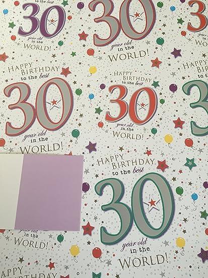 Edad 30 30th papel de regalo de cumpleaños para la mejor 30 ...