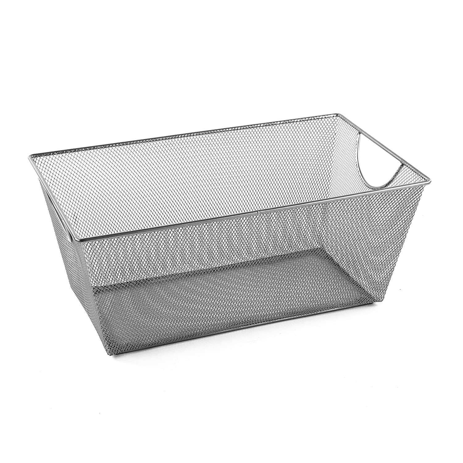 Amazon.com: Design Ideas Mesh Storage Nest, Silver, Long: Home & Kitchen