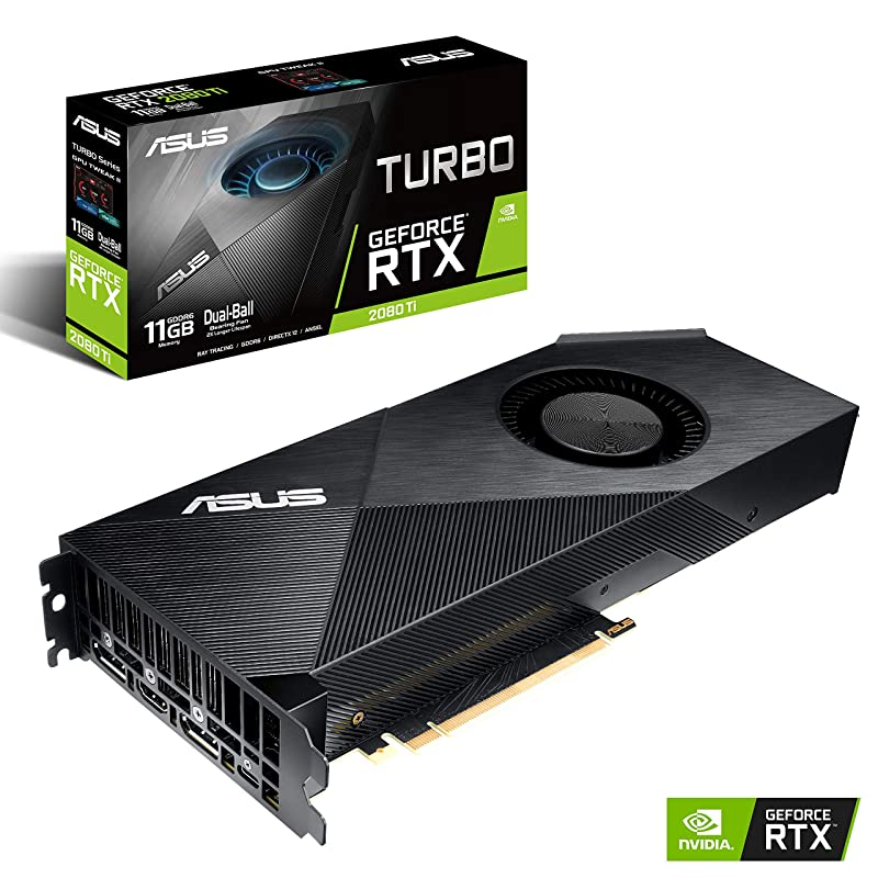ASUS NVIDIA GeForce RTX 2080 탑재 듀얼 팬 모델 11GB TURBO-RTX2080TI-11G
