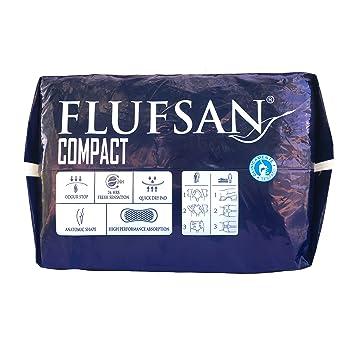 FLUFSAN COMPACT Pañales para adultos todo en uno pañales grandes LATEX FREE 70+ KG, 115-150 cm/45-59 pulgadas, 15 pañales por paquete: Amazon.es: Salud y ...