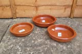 Terracotta Tapas Dish, Set of 3 (10+12+14cm)
