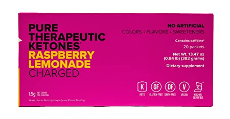 KETO OS MAX Raspberry Lemonade CHARGED N8tive Series, BHB Beta Hydroxybutyrates Exogenous Ketones Supplements for Fat Loss, Workout Energy Boost and Weight Management through Fast Ketosis, 20 Sachets