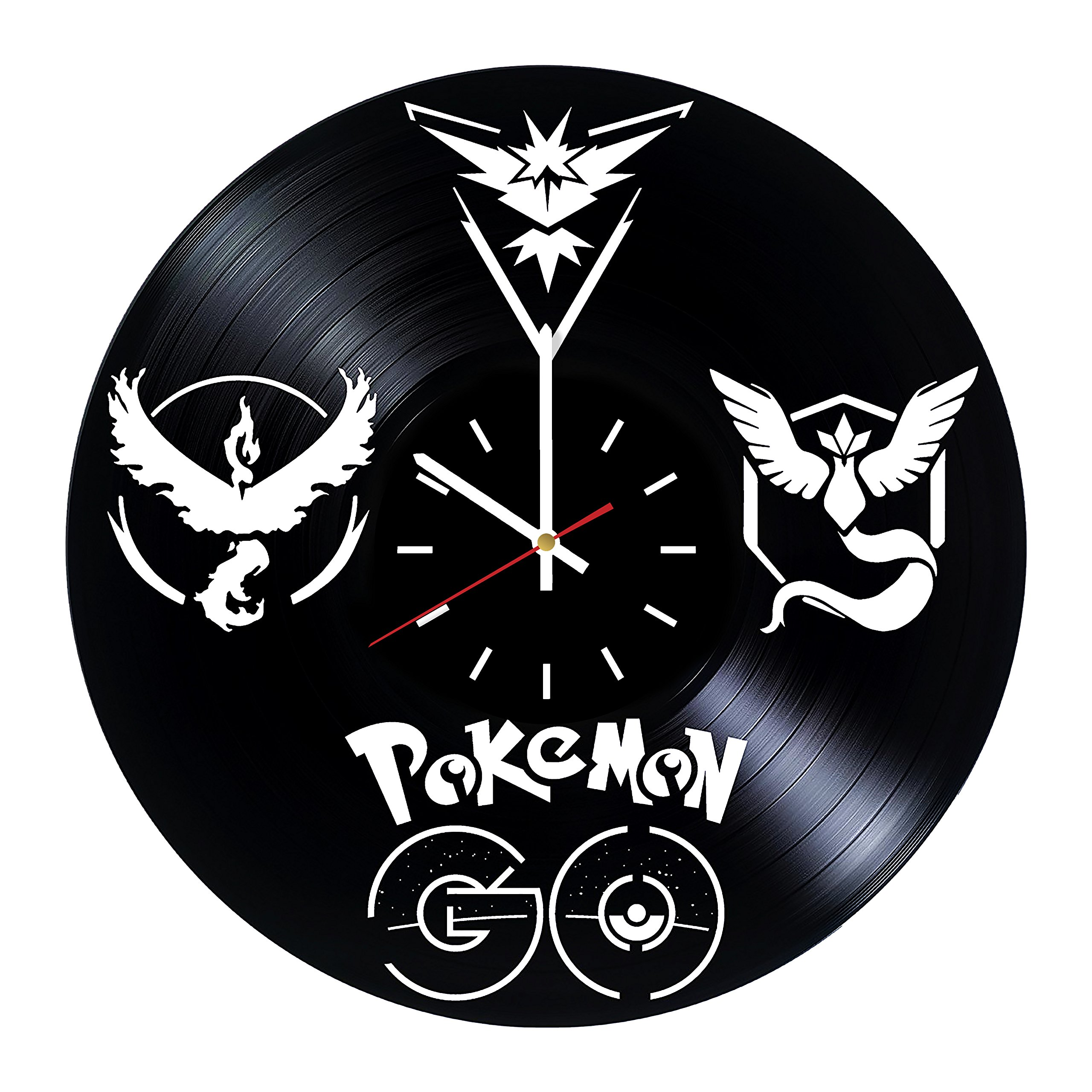 Everyday Arts Pokemon Go Game Emblems Design Vinyl Record Wall Clock - Get Unique Bedroom or Garage Wall Decor - Gift Ideas for Friends, Brother - Darth Vader Unique Modern Art