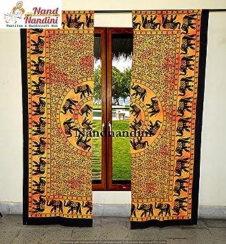 Indische Baumwolle Pfau Mandala Vorhang Fenster Tür Abdeckung hängende Setz