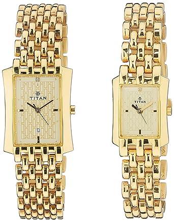 Bandhan Gold Dial Couple Watch -NK19272927YM02