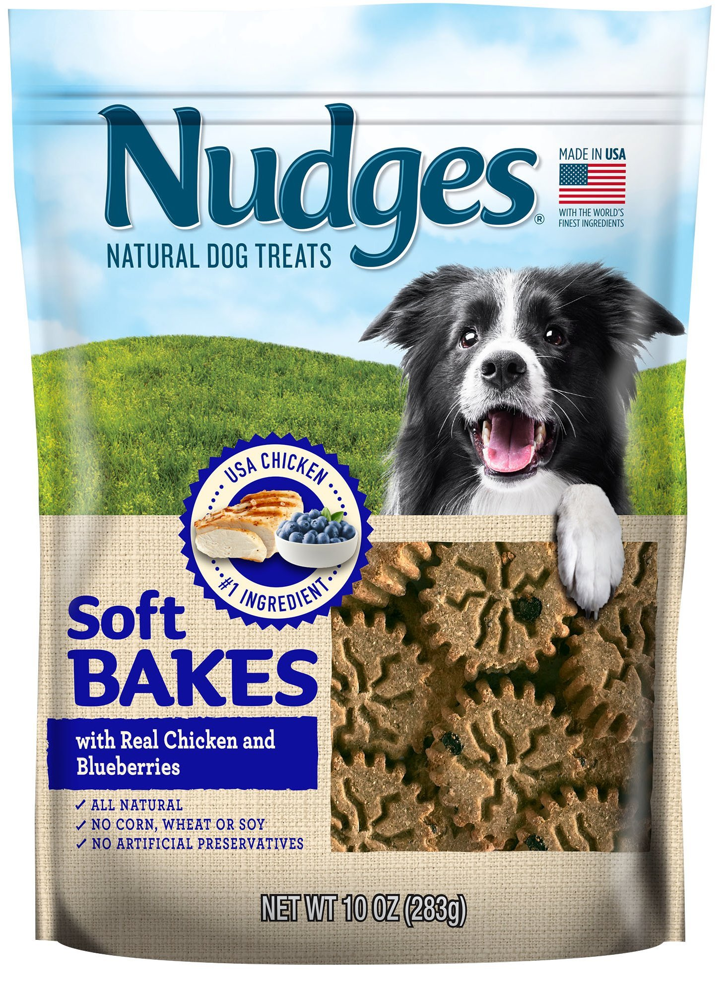 Nudges Chicken, Peanut Butter and Apple Soft Bake Dog Treats, 10 Ounce
