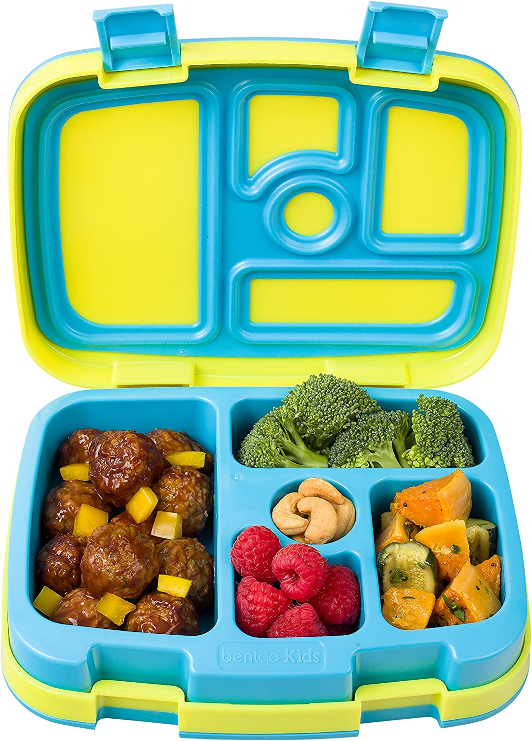Bentgo Kids Brights Leak-Proof 5-Compartment Bento-Style Kids Lunch Box –