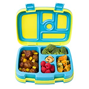 Bentgo Kids Brights – Leak-Proof, 5-Compartment Bento-Style Kids Lunch Box – Ideal Portion Sizes for Ages 3 to 7 – BPA-Free and Food-Safe Materials (Citrus Yellow)