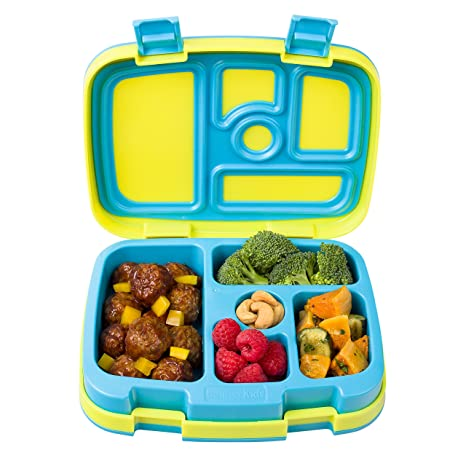 64e4dfd75571 Bentgo Kids Brights – Leak-Proof, 5-Compartment Bento-Style Kids Lunch Box  – Ideal Portion Sizes for Ages 3 to 7 – BPA-Free and Food-Safe Materials ...