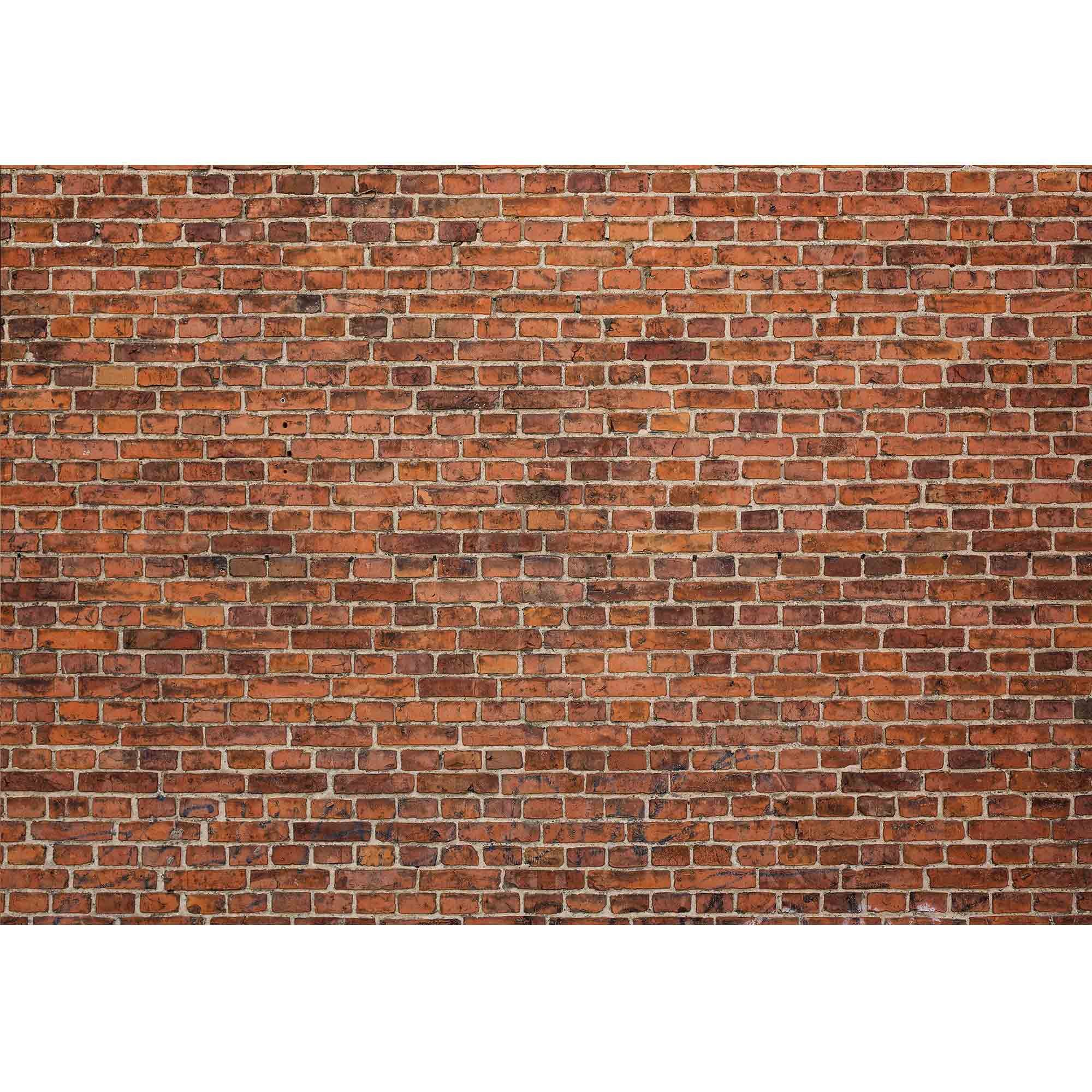 wall26 - Grunge Red Brick Wall Background with Copy Space - Removable Wall Mural | Self-adhesive Large Wallpaper - 100x144 inches by wall26 (Image #2)