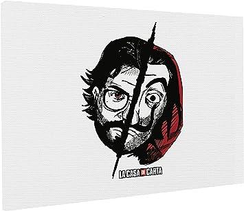 REITANO GROUP T043 - Lienzo Impreso (50 x 70 cm), diseño de La casa de Papel House of Cards EL Profesor: Amazon.es: Juguetes y juegos