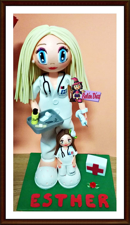 Fofucha Enfermera + broche enfermera personalizado