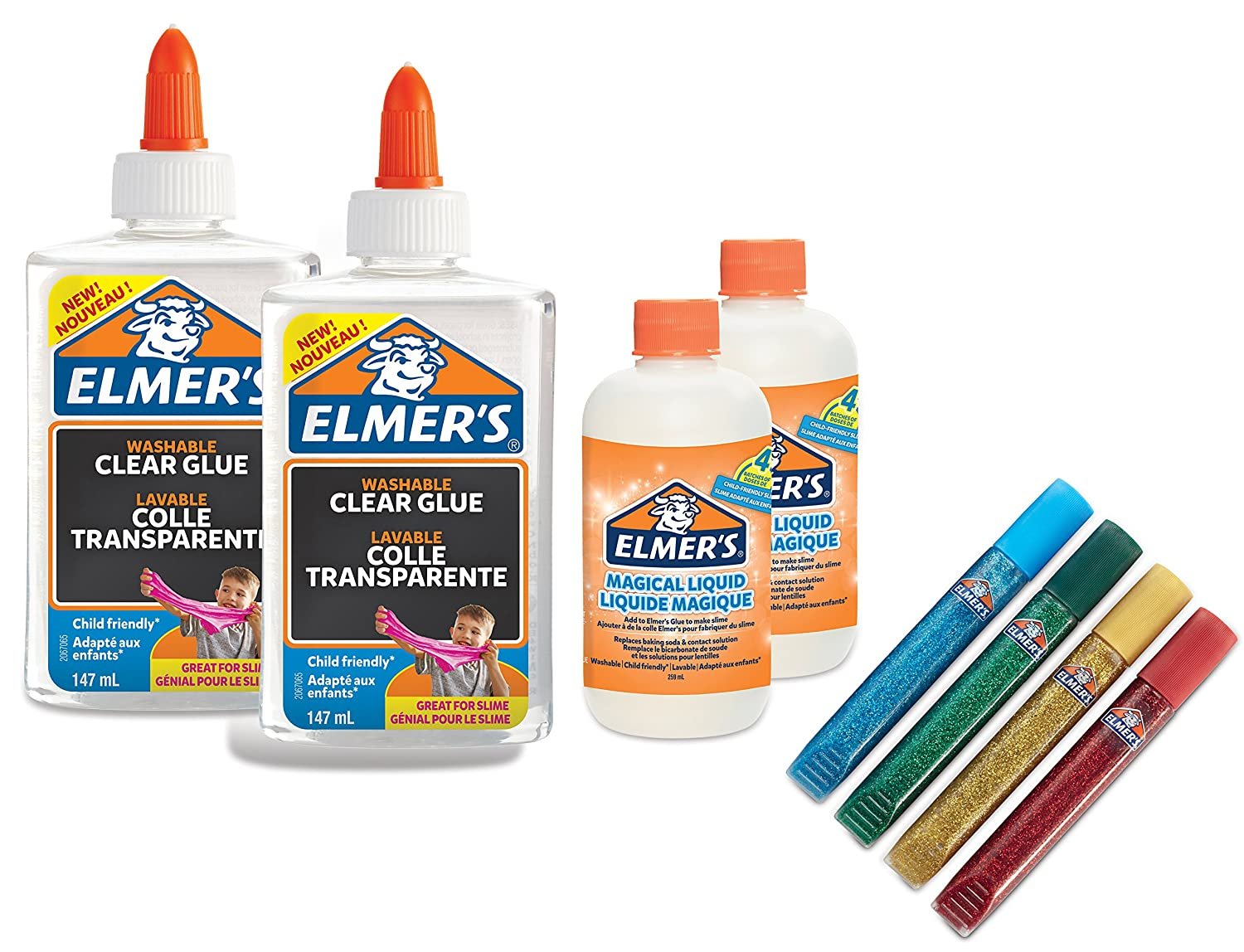 Elmers Kit De Base Pour Slime Colle Transparente Pva Stylos Colle