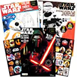 Star Wars Coloring Book Super Set with Stickers and Posters (3 Jumbo Books - Over 200 Pages Total, 2 Posters, Over 30 Stickers)