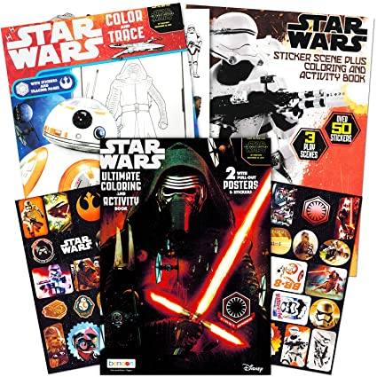 Amazon Com Star Wars Coloring Book Super Set With Stickers And