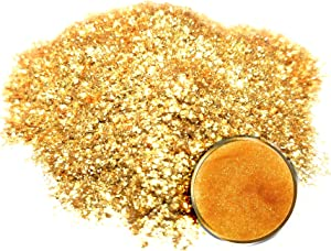 "Eye Candy Mica Powder Pigment/Flake ""14k Nugget Gold"" (50g) Multipurpose DIY Arts and Crafts Additive | Woodworking, Natural Bath Bombs, Resin, Paint, Epoxy, Soap, Nail Polish, Lip Balm"