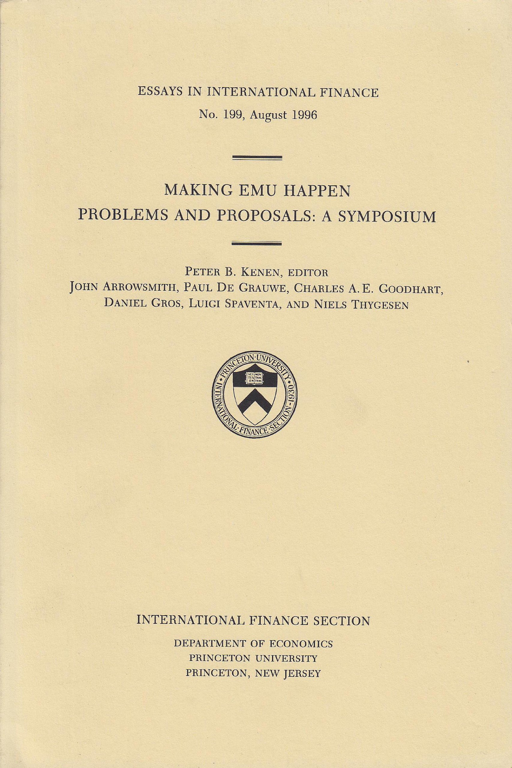 Making Emu Happen Problems And Proposals A Symposium Essays In