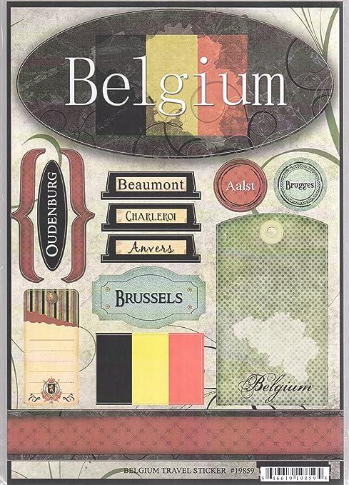 Amazon Belgium Travel Cardstock Scrapbook Stickers 19859