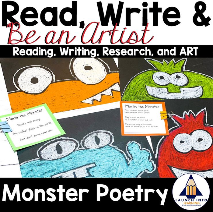 Lesson Plans For Halloween Art Projects (Read, Write, and BE AN ARTIST: Poetry and Monsters for Grades)
