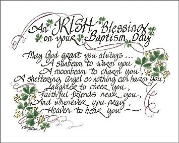 Amazon lpg greetings irish blessing for baptism decor green lpg greetings irish blessing for baptism decor greenwhiteblack m4hsunfo