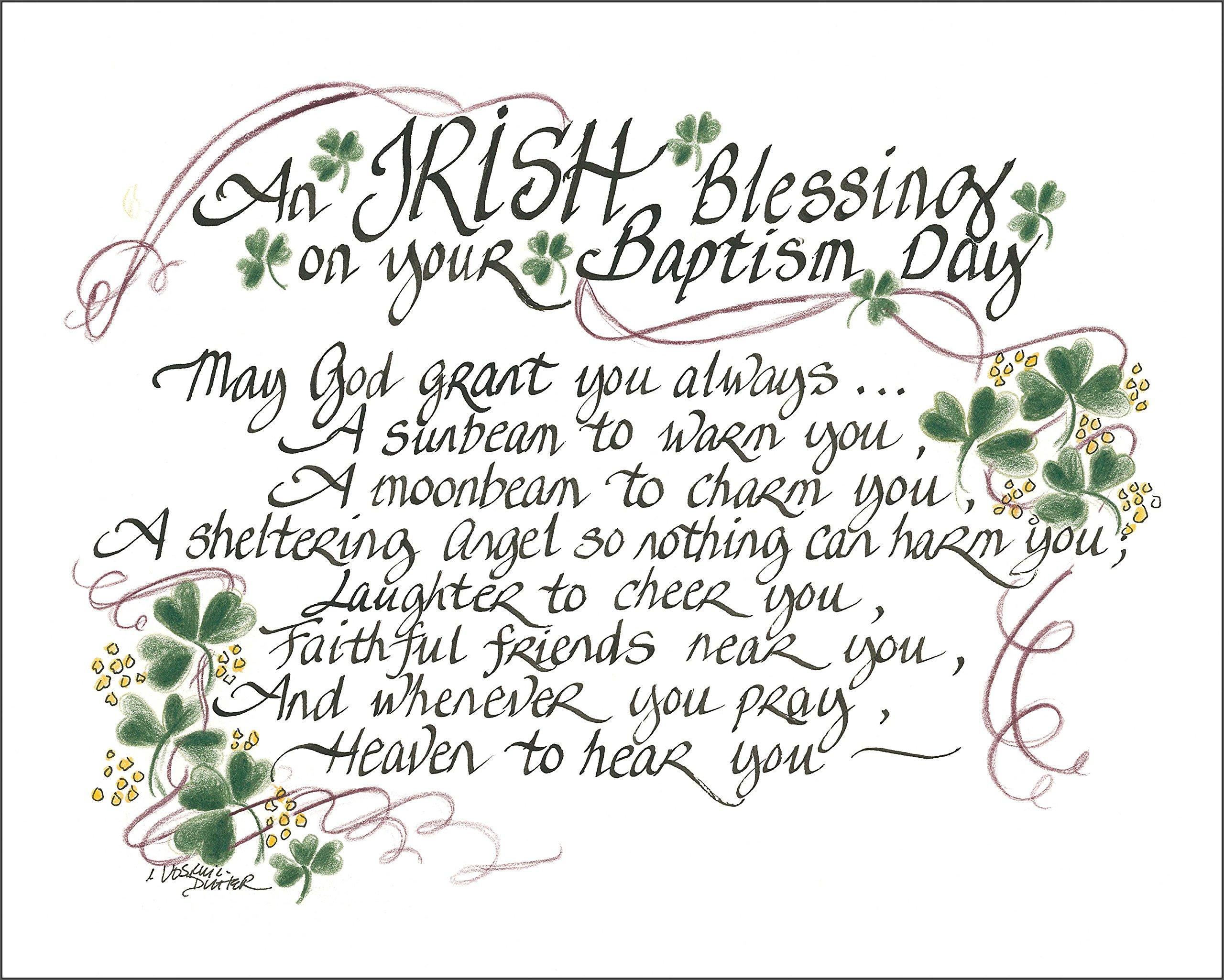 Amazon Lpg Greetings Irish Blessing For Baptism Decor Green