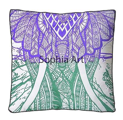 Amazon.com: Sofía Art Bohemia Hippie Elefante Mandala Funda ...