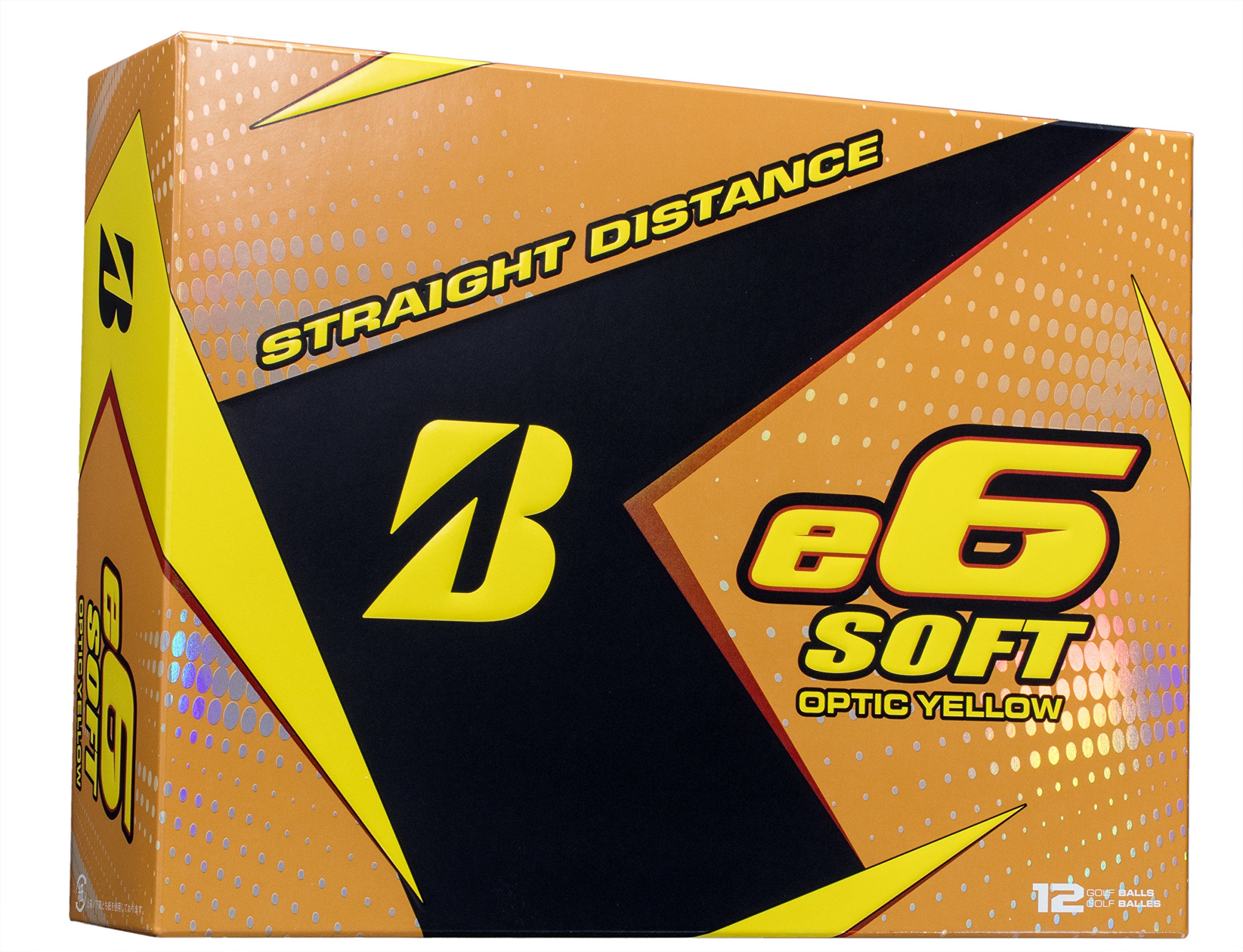 BRIDGESTONE GOLF e6 SOFT Golf Balls, Yellow, Soft, Colored Golf Balls (Dozen Golf Balls) by Bridgestone Golf