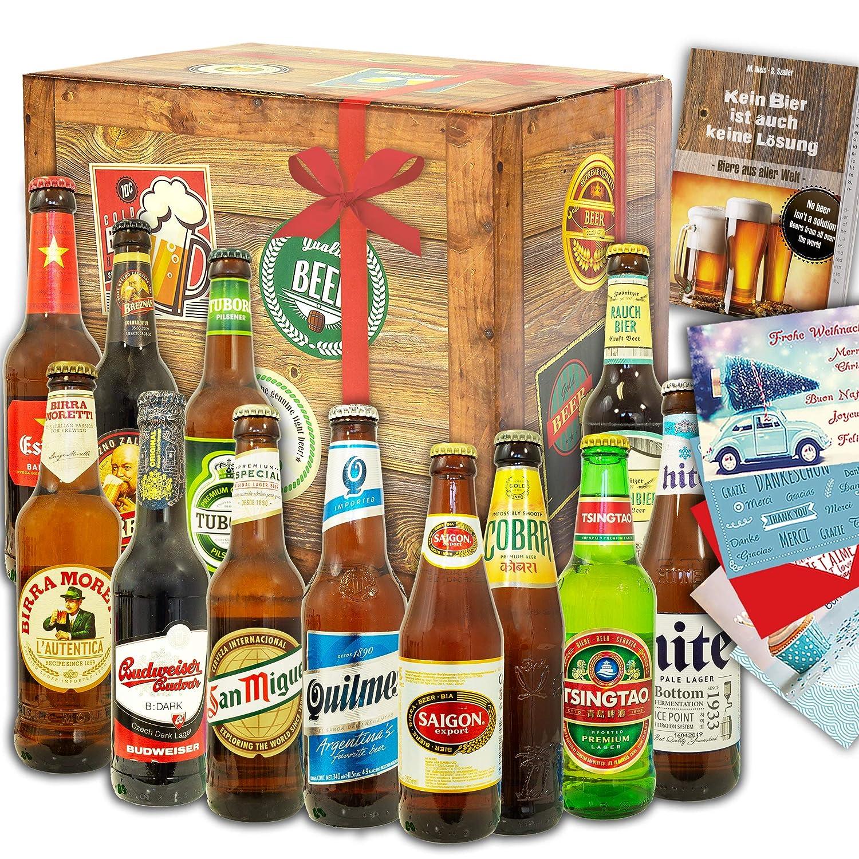 Biere der Welt 12 Flaschen | Bier aus aller Welt | Weihnachts Geschenkidee Mann monatsgeschenke.de