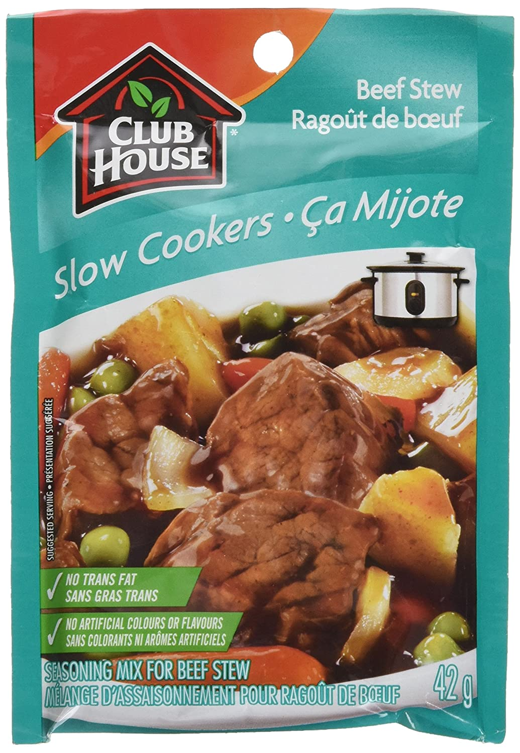 Club House Slow Cookers Beef Stew Seasoning Mix, 42g/1.5oz., {Imported from Canada}