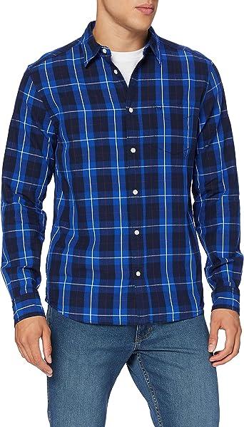 Wrangler LS 2pkt Flap Shirt Camisa, Patriot Blue, S para Hombre: Amazon.es: Ropa y accesorios