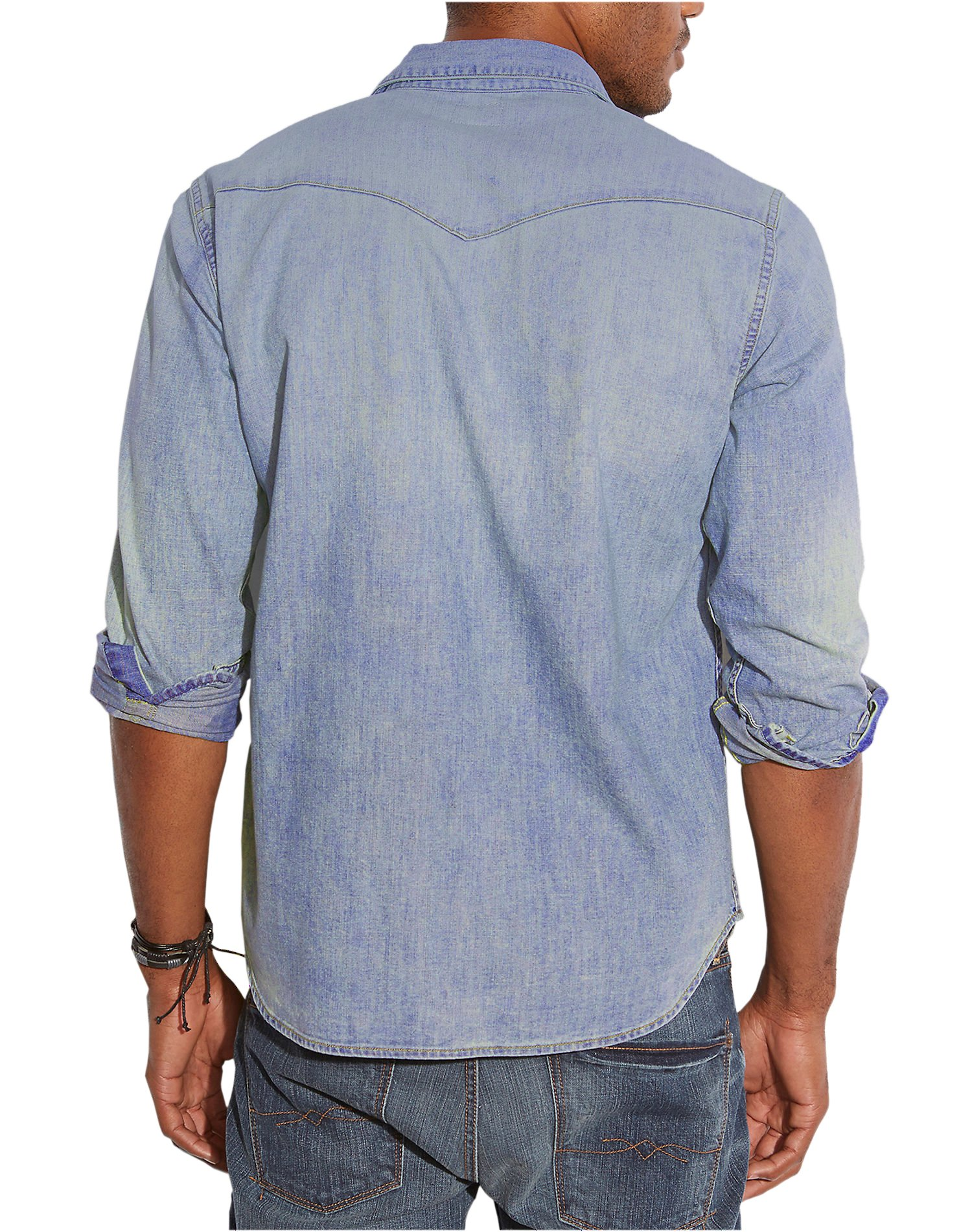 f6599a1f1d27 Workwear Western Shirt WASHED TAN Source · Lucky Brand Men s 7MD10274 Snap  Button Classic Denim Western Shirt