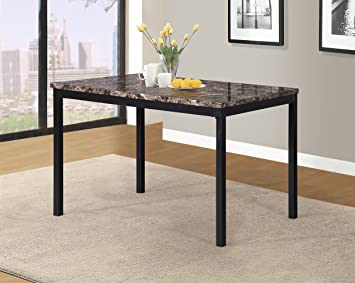 Amazon.com: Roundhill Furniture T007 Noyes superior mesa de ...